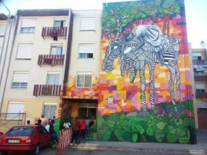 Mural na Quinta do Mocho (Projeto Bairro Mundo)