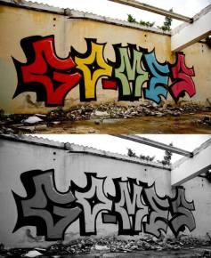 Graffiti realizado como Go Mes