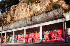 Mural da Restauração, no Porto (2015). Com Asno (Chei Krew), FEDOR e SEM