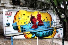 Mural na Calçada da Glória, em Lisboa (2014) Com Chei Crew