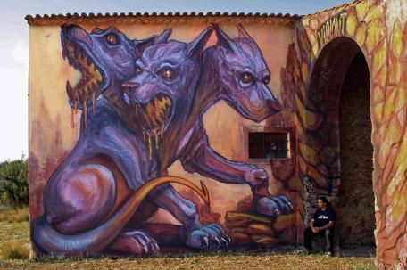 """""""Cerberus"""", em Montalvo, Santarém. Abr2015 (Crédito: Sílvia Afonso)"""