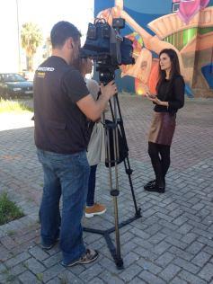 A coordenadora Catarina Aidos em entrevista à imprensa (Crédito: Divulgação/Facebook)