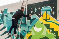 GodMess em mural realizado no Centro de Inovação da Mouraria (Crédito: Bruno Cunha)