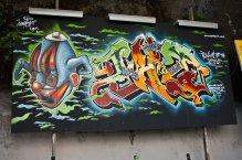 Painel de Nomen na Calçada da Glória (FacebookGAU)