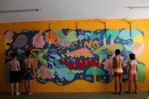 Obra realizada na Surfing Life Club (Crédito: Divulgação)