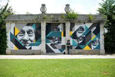 Mural realizado em Bergamo, Itália (facebook.com/pigmenti)