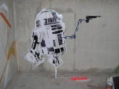 R2 D2, de Star Wars, um dos primeiros stêncil de SKRAN