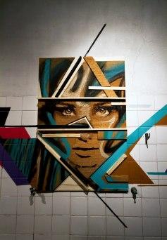 Trabalho da exposição Fractal na LX Factory (Funarte Gallery)