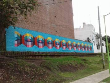 O último mural antes da viagem. Em Vicente Lopez, Buenos Aires