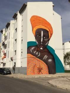 """""""African Queen"""", mural de Ivo """"Smile"""" Santos"""