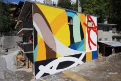 Mural de Moneyless em Crans Montana, na Suíça (divulgação)