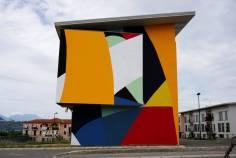 Mural de Moneyless em Lioni, na Itália (divulgação)