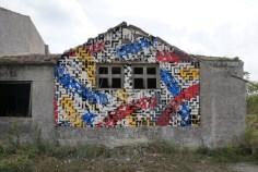 Obra do projeto Triscele, realizado em conjunto com Martina Merlini e o duo Sten & Lex (divulgação).