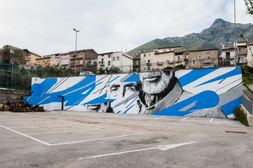 """""""TRE"""". Trivio (Formia-ITA) Memorie Urbana, 2016 / (Crédito: danieleime.com)"""