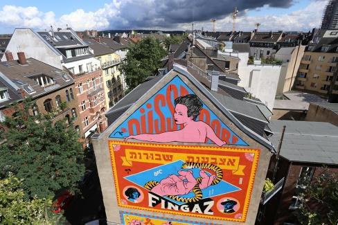 Dusseldorf Mural (2016). Mural realizado em Dusseldorf, na Alemanha.