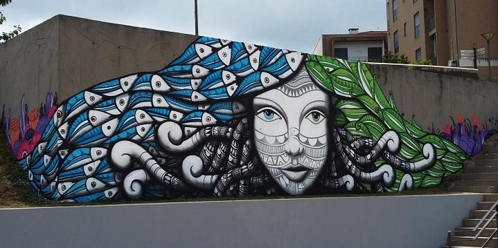Terceiro mural de Cadumen em Fafe e o último da turnê pela Europa (Crédito: Cadumen)