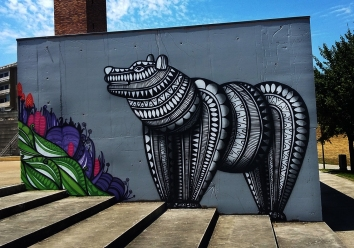 Segundo mural de Cadumen no Parque da Cidade de Fafe (Crédito: Cadumen)