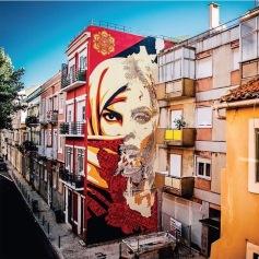 Mural de Obey em colaboração com Vhils (crédito: Jon Furlong)