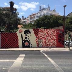 Mural de Obey nas Amoreiras (Crédito: Ctrl+Alt+RUA)