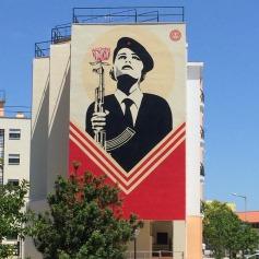 """""""Peace Guard"""". Mural de Obey na Graça (Crédito: Ctrl+Alt+RUA)"""
