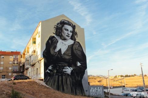 Amália Rodrigues. Mural do artista Odeith. (Crédito: Daniel Sanches)