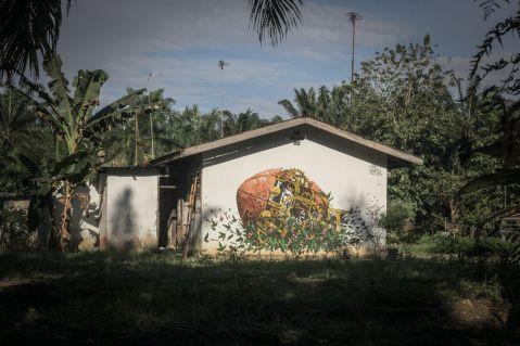 Mural de Pixel Pancho em Halaban (Crédito: Divulgação)