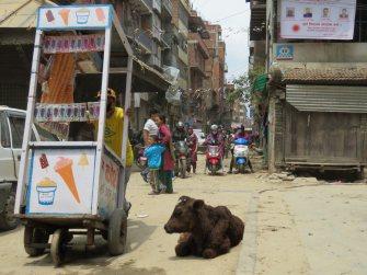 Trabalho de Space Invader em Katmandu (Crédito: tofz4u)