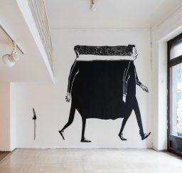 """Pintura na Galo Art Gallery na individual """"il Lato Cieco"""" (Crédito: Stefano Guastella/Instagram)"""