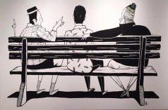 """Tela de Alex Senna na exposição """"Anamnesis"""" (Crédito: Alex Senna/Facebook)"""