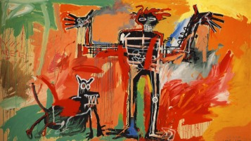 """""""Boy and Dog in a Johnnypump"""" (1982), Basquiat"""