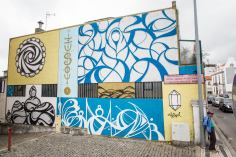 """""""Sideral"""" Mural de Hazul em Estarreja (Crédito: Miguel Oliveira)"""