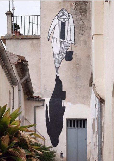 Obra para o CVTa Street Fest, em Civita Campomarano, Itália. (Crédito: Alessia Di Risio/Instagram)