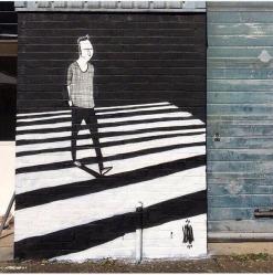 """Pintura realizada em Londres em paralelo à exposição """"The Nada"""" (Crédito: Alex Senna/Instagram)"""