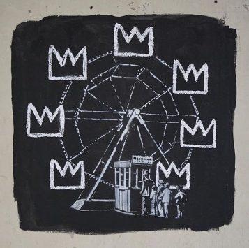 Intervenção de Banksy no Barbican Centre em Londres (crédito: @banksy)