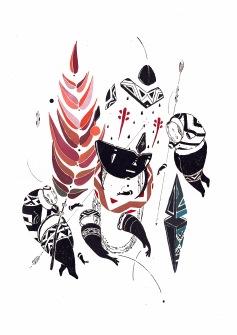 Uma das clássicas máscaras do artista