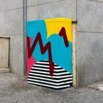 """""""Sky and Sun"""" GraffitUrbe em Leça da Palmeira (Crédito: Divulgação)"""