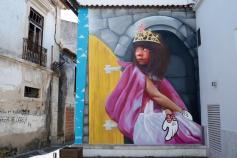 """""""Princesa Sarah"""". Obra de Smile para o Arte Pública Leiria (crédito:facebook/artepublicaleiria)"""