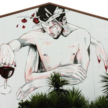 Mural realizado na última edição do festival Tons de Primaveira, em Viseu (crédito: divulgação/facebook)