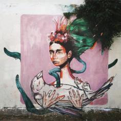 """""""Mother Nature"""". Trabalho em colaboração com as artistas Murta e Margarida Fleming no espaço Anjos 70, em Lisboa (crédito: divulgação/facebook)"""