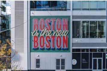 Trabalho realizado no Seaport Boston - crédito; Raymesh/ @halfstudio