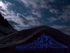 Intervenção realizada em 2012 com o fotógrafo Thomas Stöckli nos Alpes Suiços - crédito: Thomas Stoeckli / @spidertag