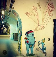 Colaboração com Crânio na La Tabacalera de Lavapies, em Madrid, na Espanha - crédito: @spidertag