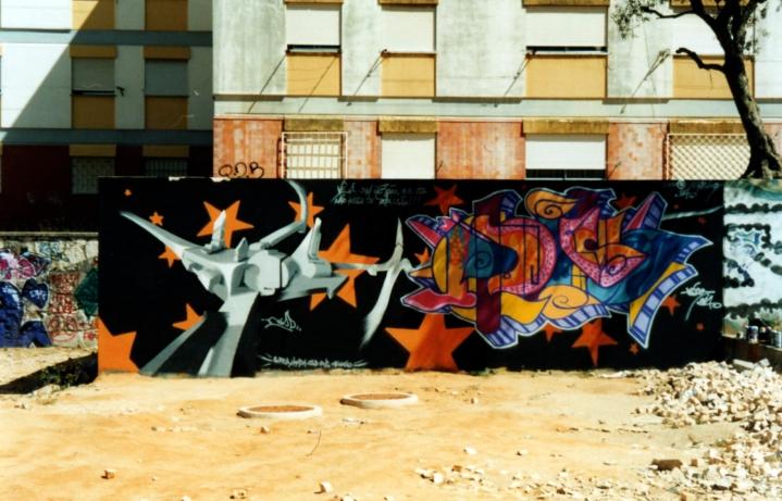 Graffiti de Hesp no Miratejo em 2000 (Imagem: Tiago Hesp)